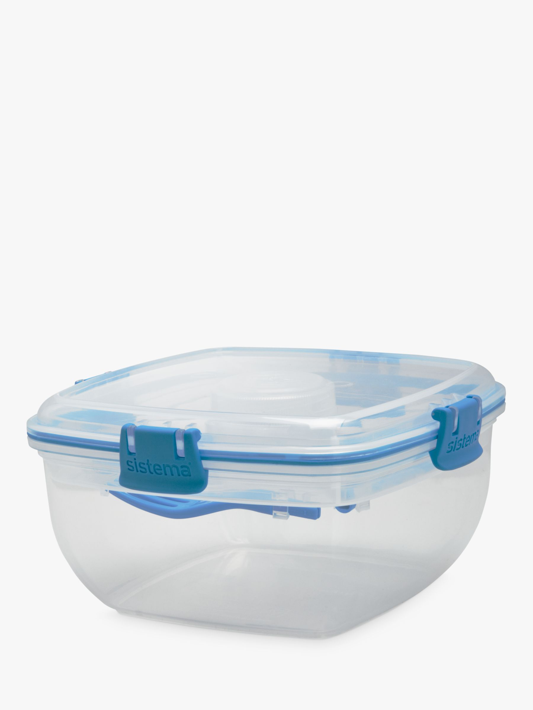 Sistema Sistema Salad To Go Container, White/Blue