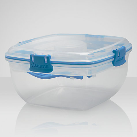 Buy Sistema Salad To Go Container, White/Blue Online at johnlewis.com