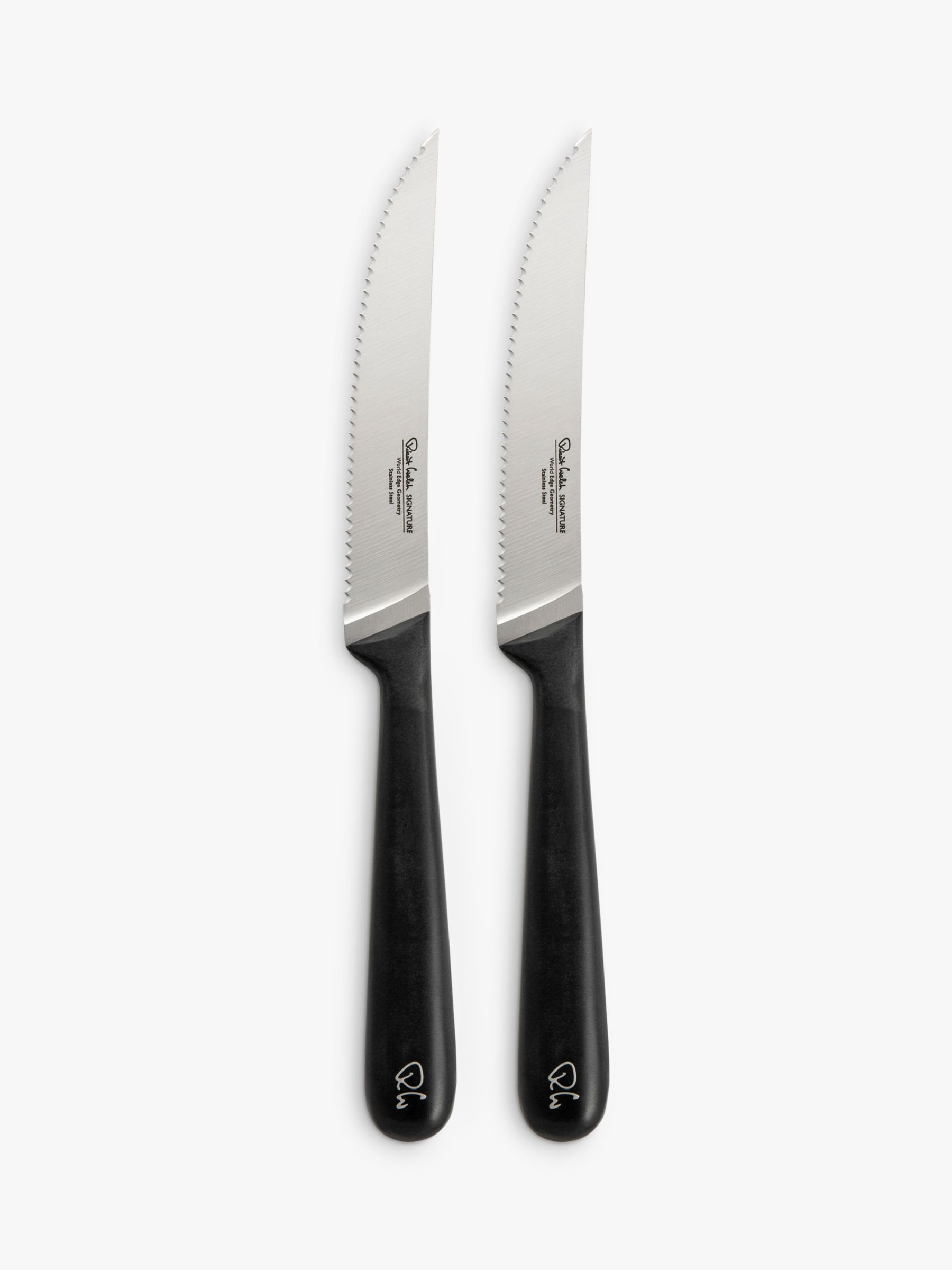 Robert Welch Signature Stainless Steel Serrated Steak Knives, Set of 2, 15cm