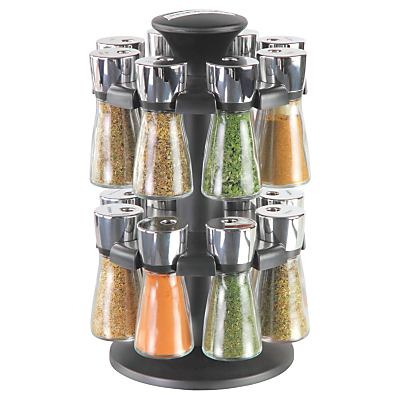 Cole & Mason Hudson 16 Jar Filled Spice Carousel