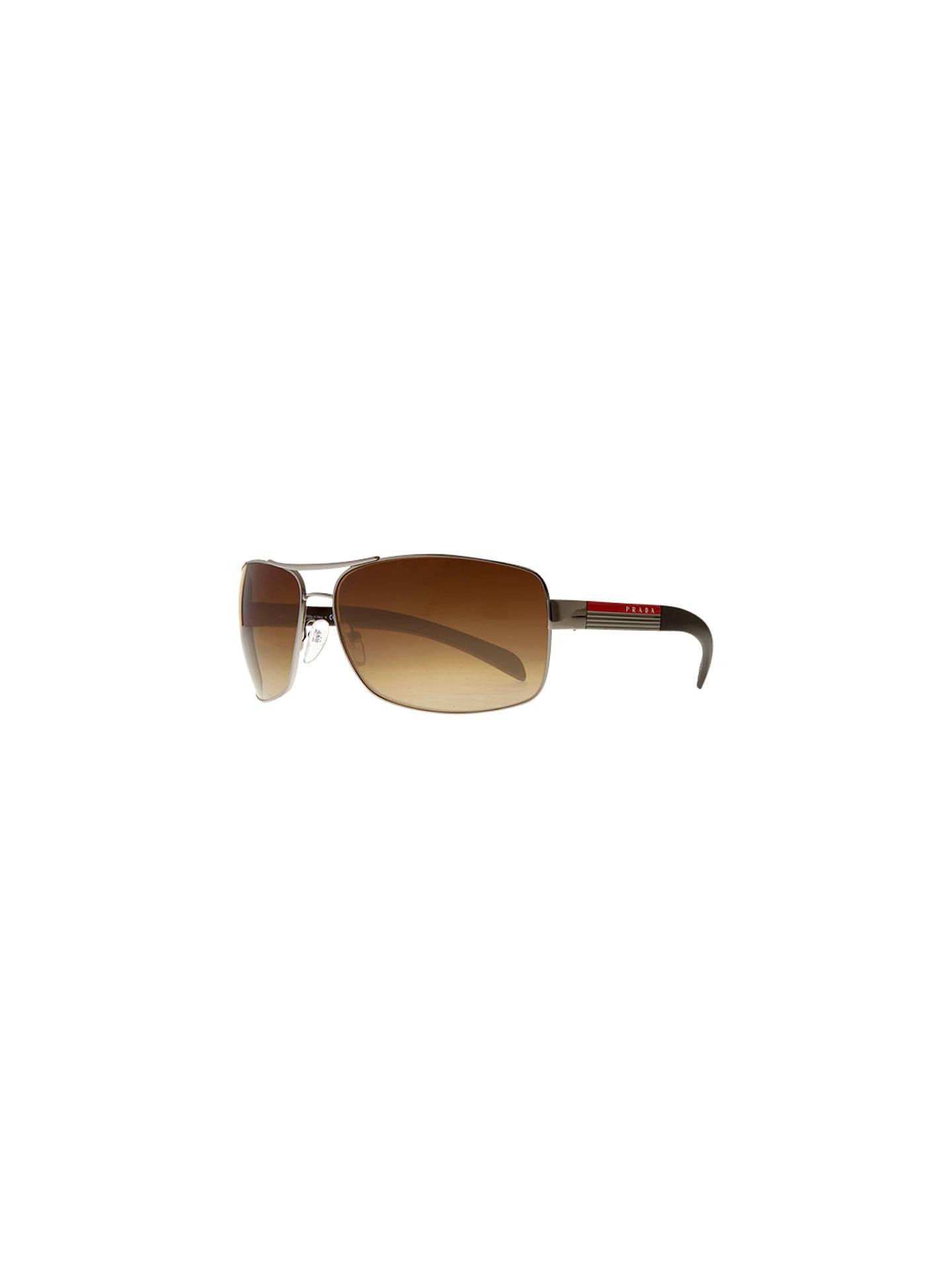 68cad4df7b3a Buy Prada Linea Rossa PS541S Aviator Sunglasses, Brown Online at  johnlewis.com ...
