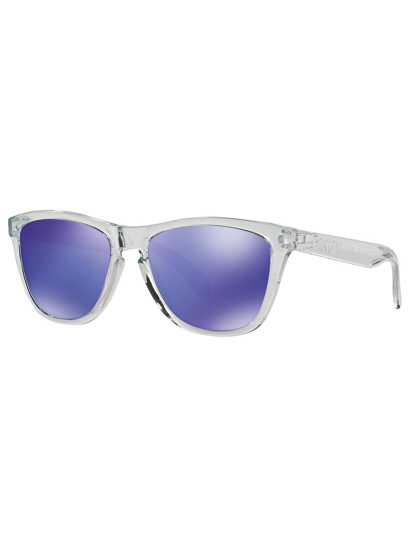 c321c6ff11 ... oo9013 frogskins square sunglasses clear online at johnlewis c00bb  d6660 low cost 10.99 fashional oakley frogskins sunglasses transparent frame  blue ...