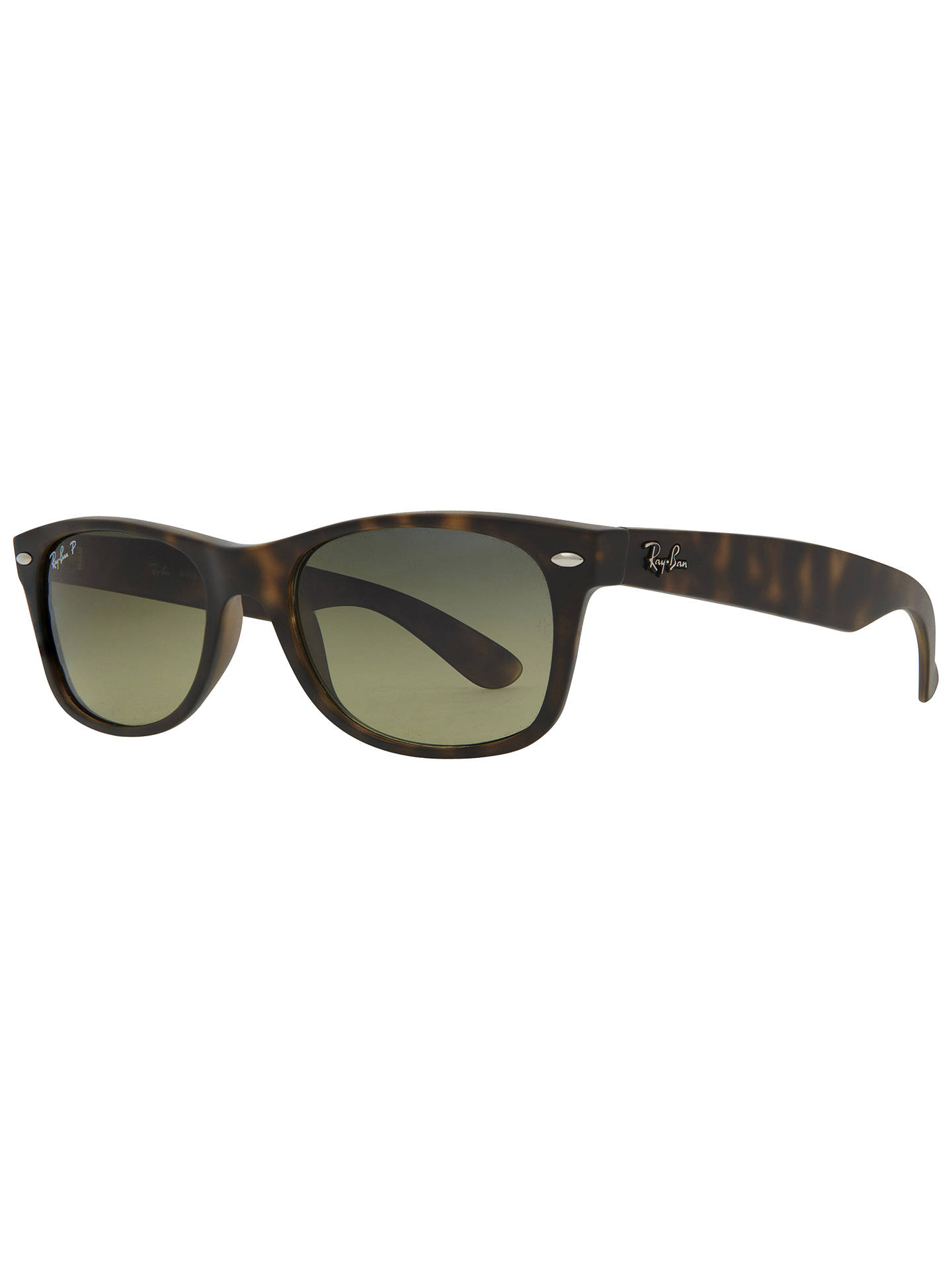 40633025f Buy Ray-Ban RB2132 Men's New Wayfarer Polarised Sunglasses, Matte  Havana/Green Gradient ...