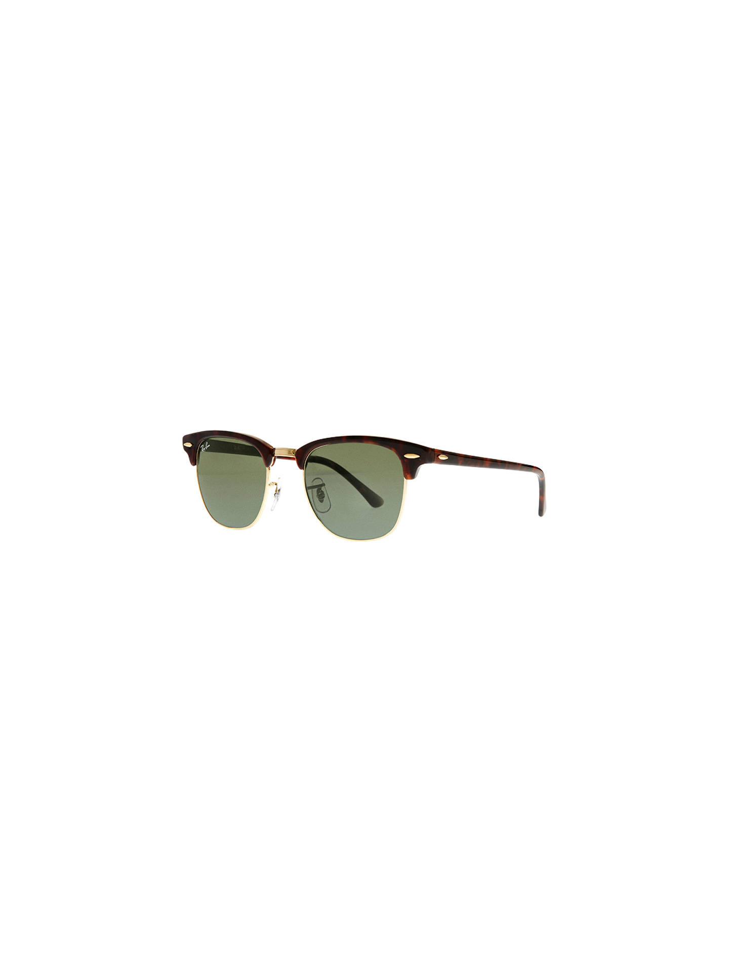 BuyRay-Ban RB3016 Men's Classic Clubmaster Sunglasses, Mock Tortoise Online at johnlewis.com
