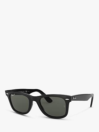 Ray-Ban RB2140 Polarised Wayfarer Sunglasses, Black
