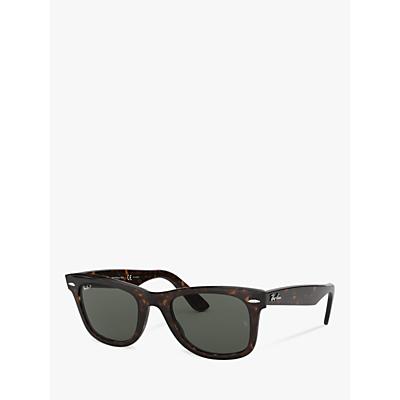 Ray-Ban RB2140 Original Wayfarer Polarised Sunglasses, Tortoise