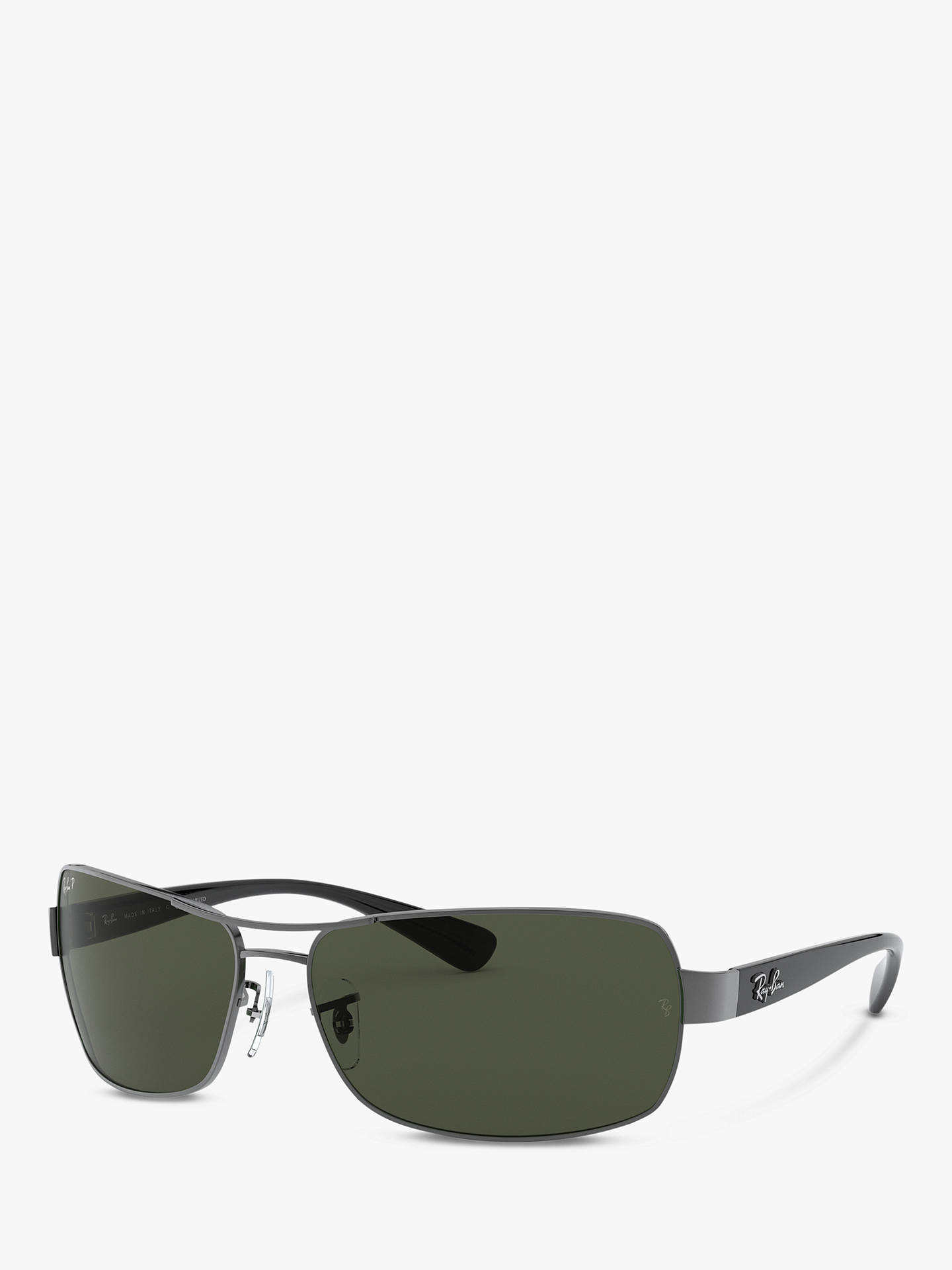 a075f1006 Buy Ray-Ban RB3379 Polarised Active Rectangular Sunglasses, Gunmetal Online  at johnlewis.com ...