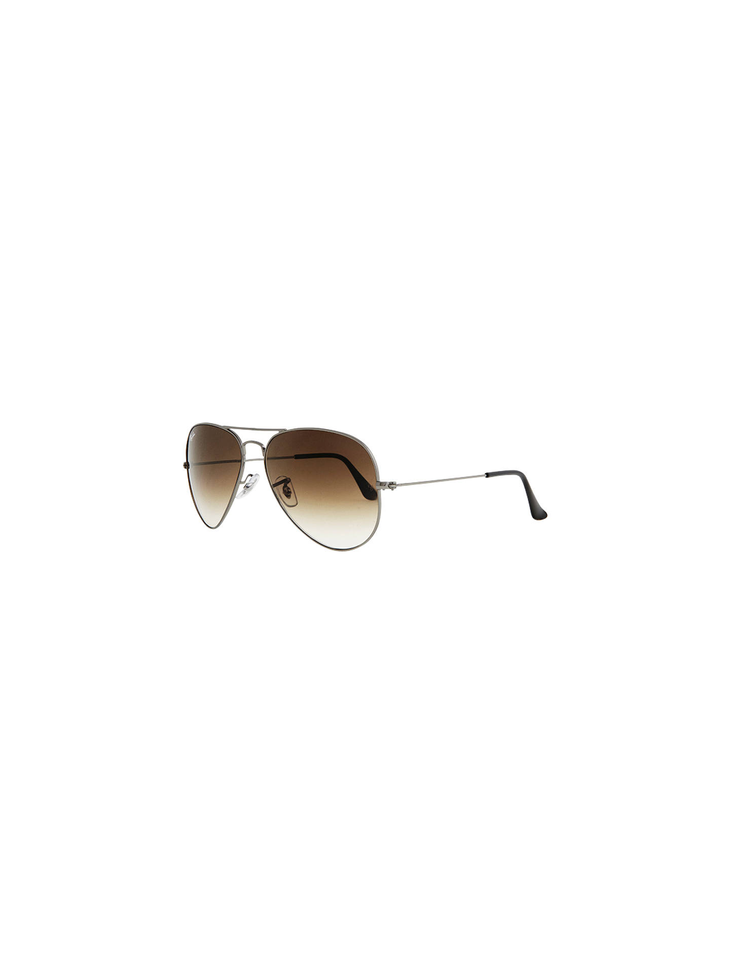 fe91096f51620 BuyRay-Ban RB3025 Iconic Aviator Sunglasses, Silver   Brown Online at  johnlewis.com ...