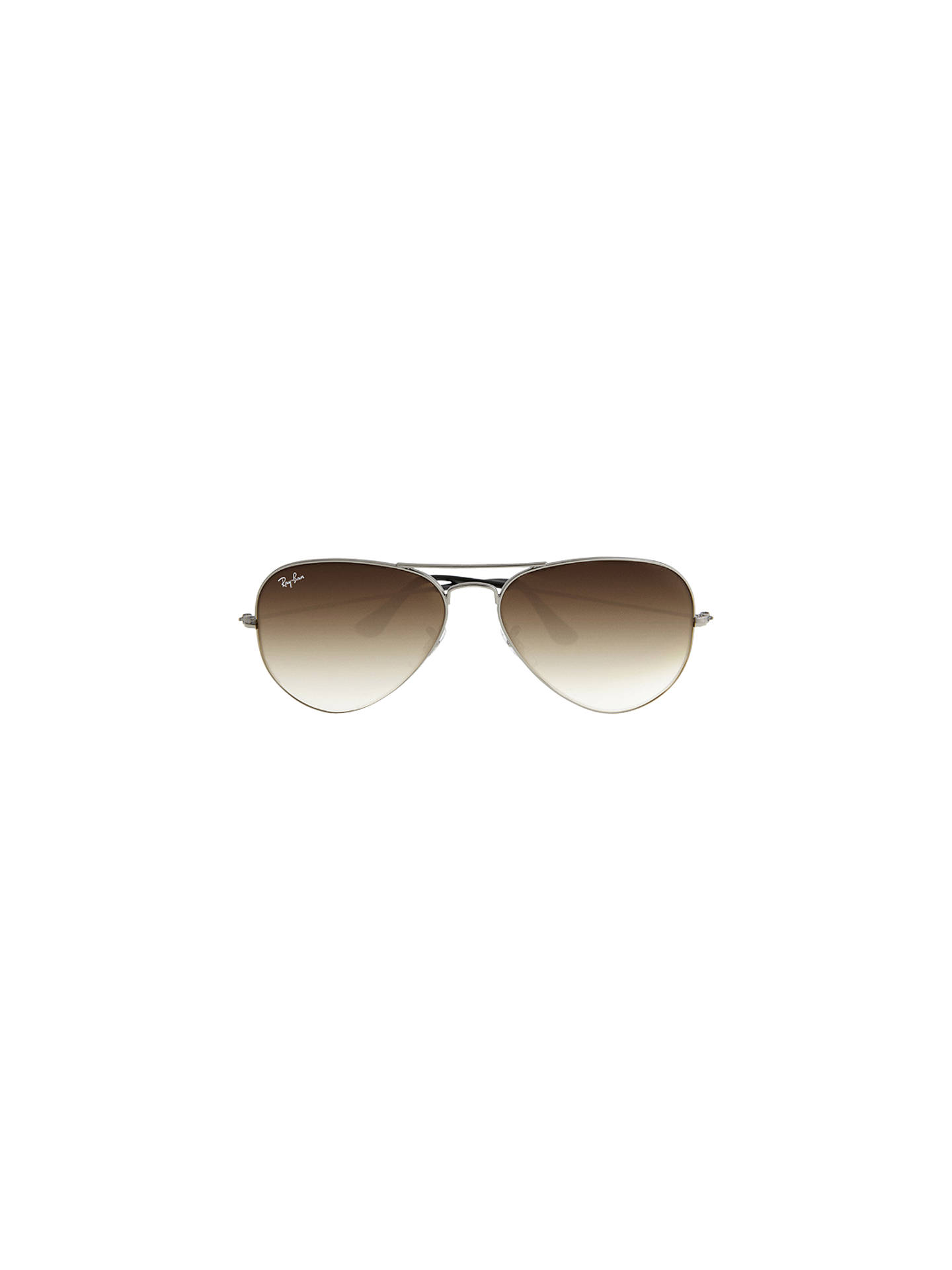 072e86867262 ... denmark buyray ban rb3025 iconic aviator sunglasses silver brown online  at johnlewis 27e37 06f6d