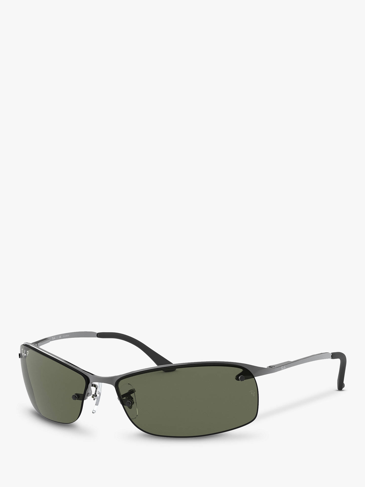6d4d0234d2 Ray-Ban RB3183 Polarised Rectangular Sunglasses at John Lewis   Partners