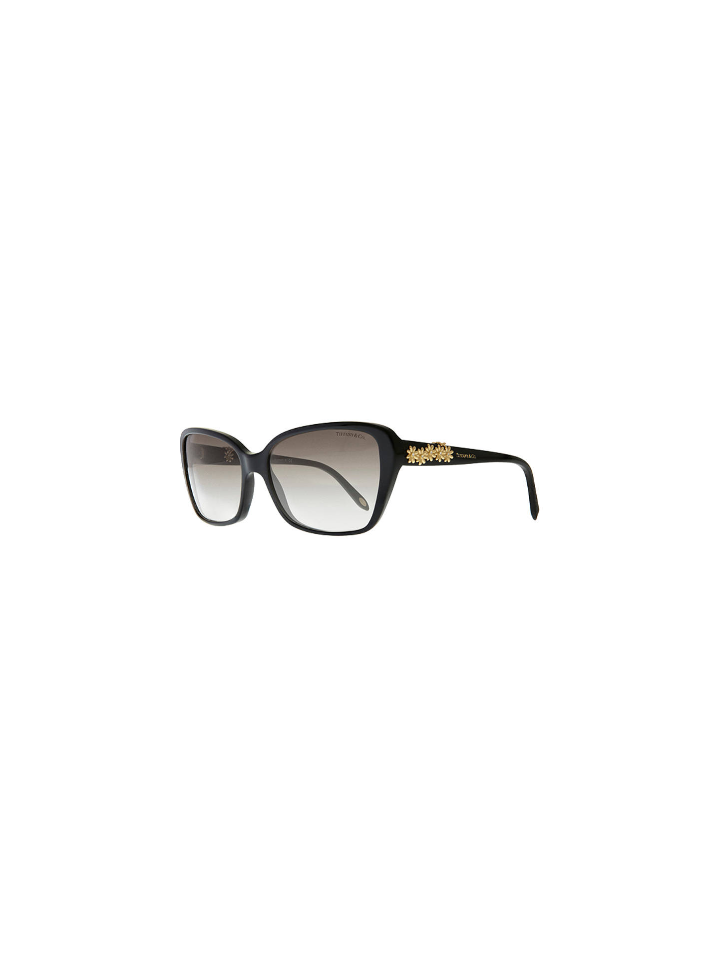 0d6e86ed3911 Buy Tiffany & Co TF4096B Multi Daisy Sunglasses, Black Online at johnlewis.  ...