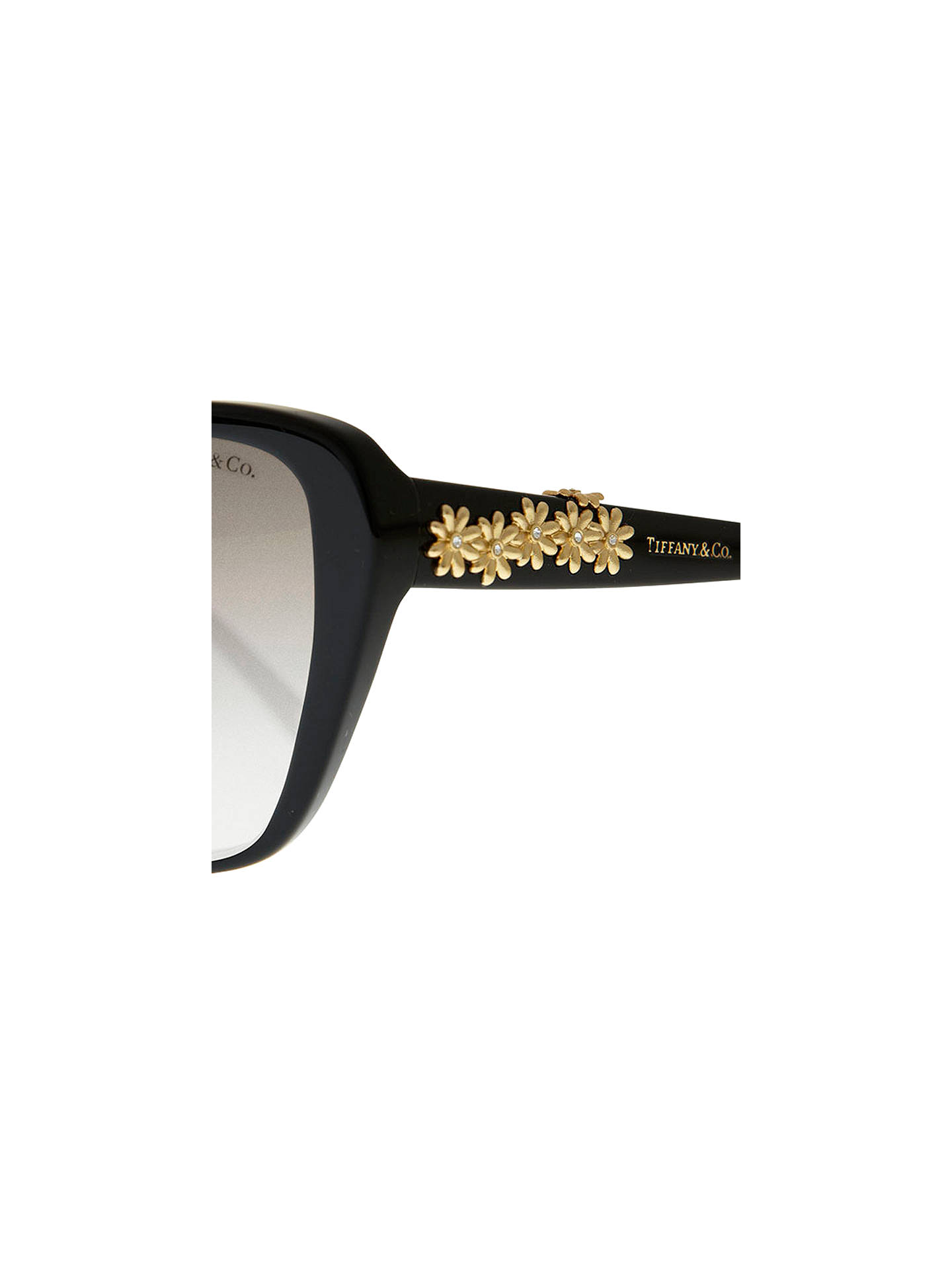 ebfdd4a8e7f7 ... Buy Tiffany & Co TF4096B Multi Daisy Sunglasses, Black Online at  johnlewis.com
