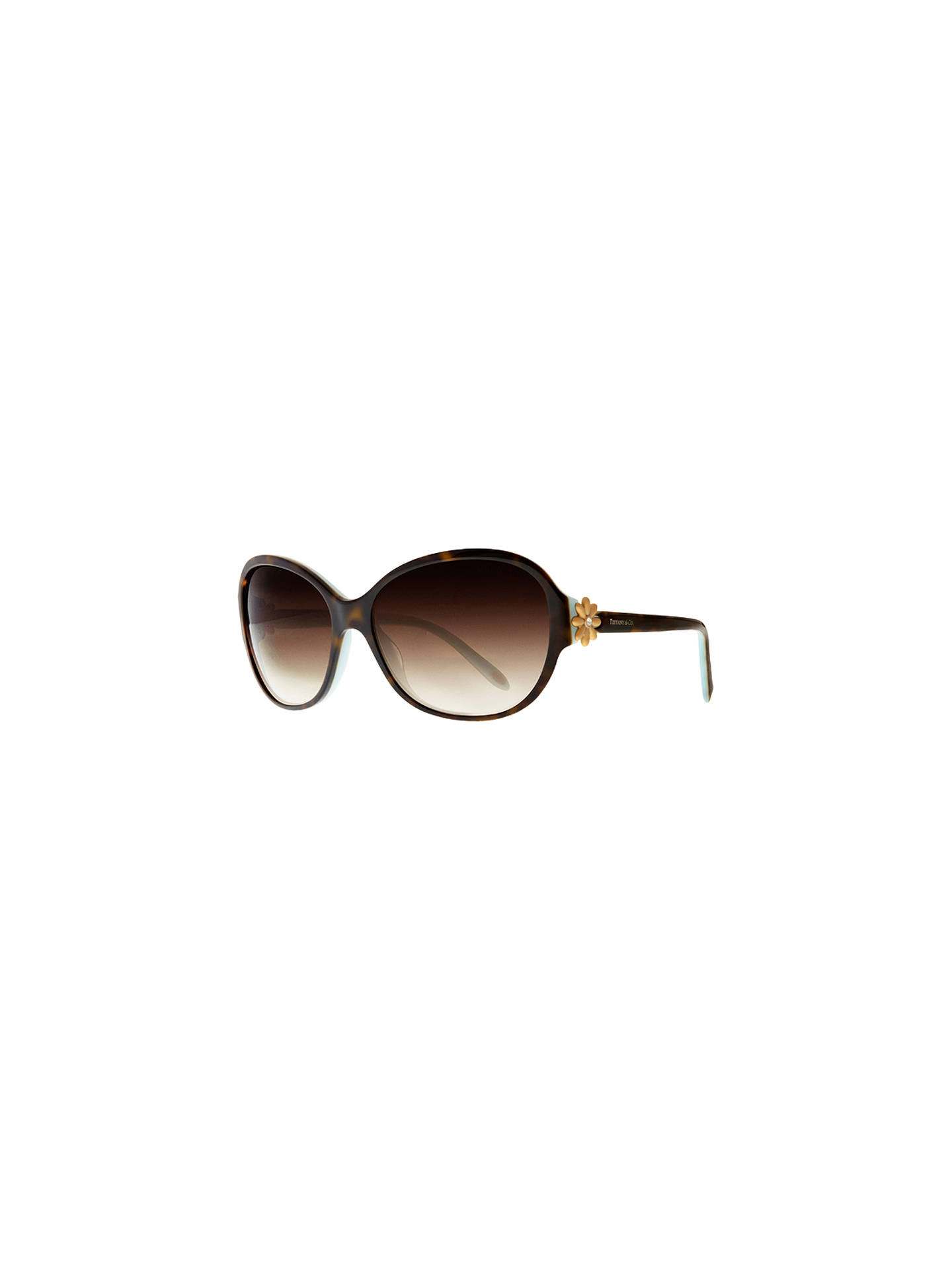 9e824d96d2dc Buy Tiffany & Co TF4068B Single Daisy Sunglasses, Havana / Blue Online at  johnlewis.