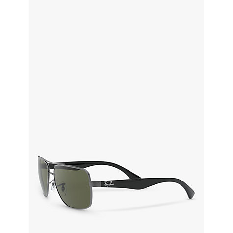 Buy Ray-Ban RB3483 Highstreet Square Sunglasses, Gunmetal Online at johnlewis.com