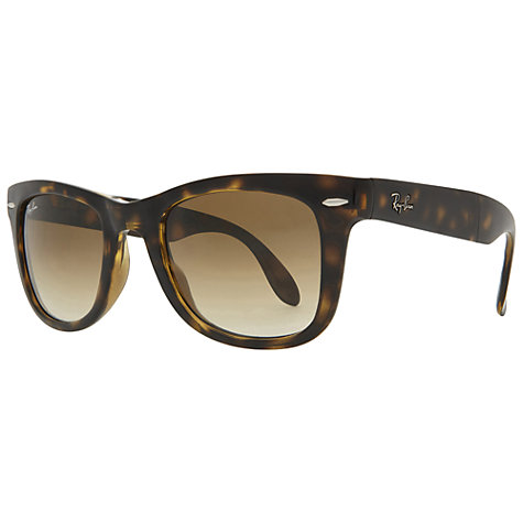 ray ban rb4105 folding wayfarer  buy ray ban rb4105 folding wayfarer sunglasses, light havana online at johnlewis