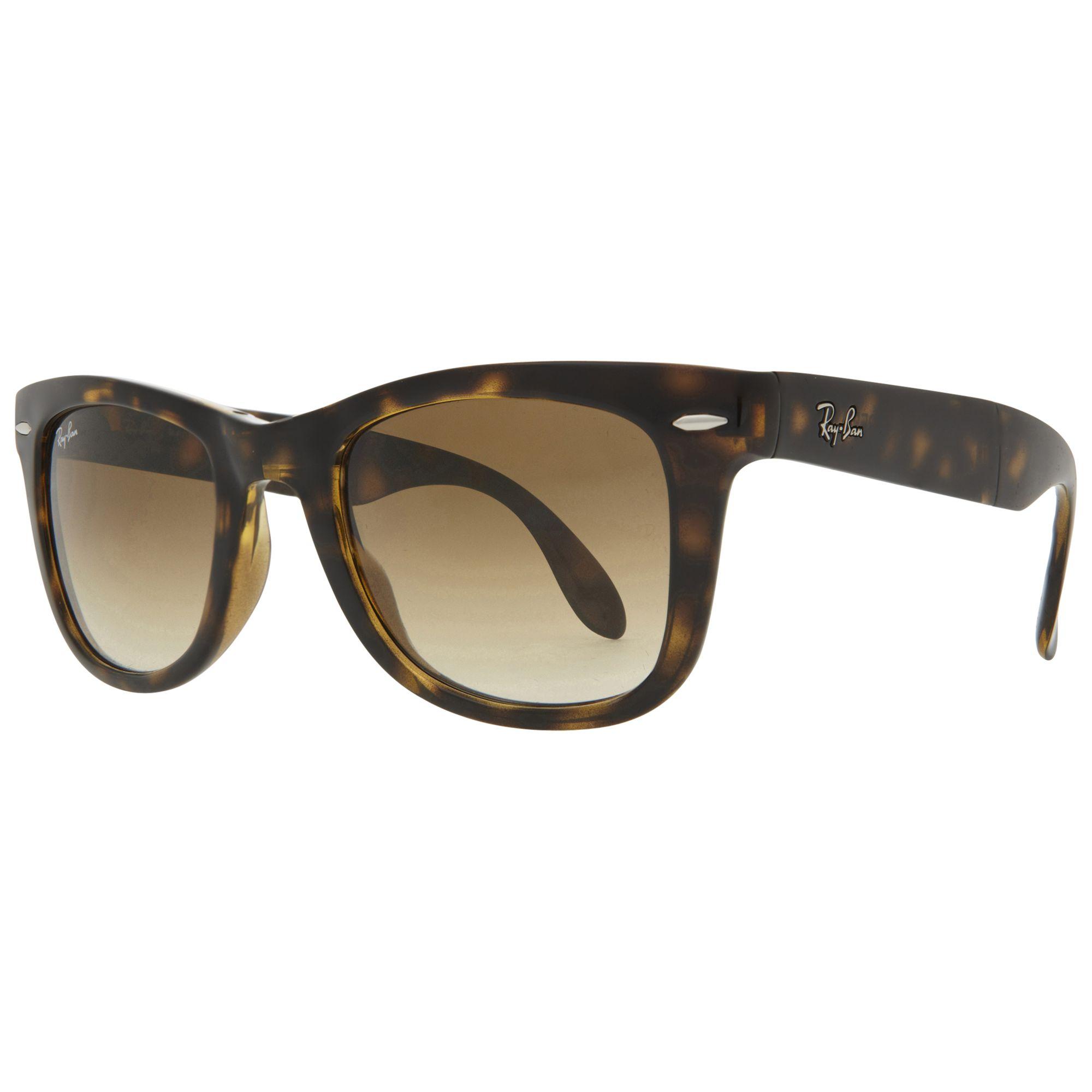 Ray-ban Ray-Ban RB4105 Folding Wayfarer Sunglasses, Light Havana