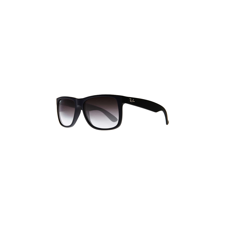 BuyRay-Ban RB4165 Justin Rectangular Sunglasses, Black Rubber Online at  johnlewis.com ...