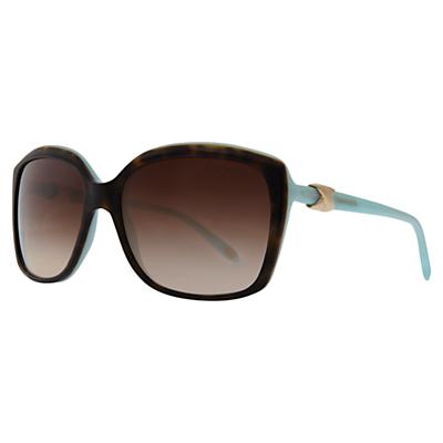 Tiffany & Co TF4076 Oversized Square Sunglasses, Havana / Blue