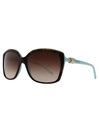 Tiffany & Co TF4076 Oversized Square Sunglasses, Havana / Blue