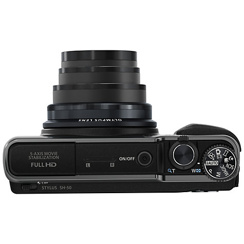 "Buy Olympus Stylus SH-50 Digital Camera, HD 1080p, 16MP, 24x Optical Zoom, 3"" Touch Screen Online at johnlewis.com"