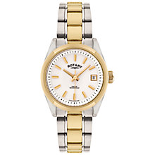 Buy Rotary LB02660/07 Women's Two-Tone Stainless Steel Bracelet Strap Watch, Silver/Gold Online at johnlewis.com