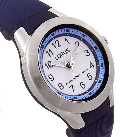 Buy Lorus Children's Bezel Rubber Strap Watch Online at johnlewis.com