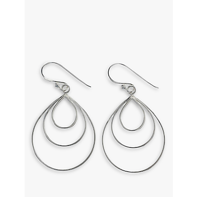 Nina B Sterling Silver Triple Loop Drop Earrings