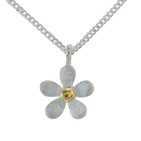 Buy Nina B Sterling Silver and Gold Plated Five Petal Flower Pendant Online at johnlewis.com