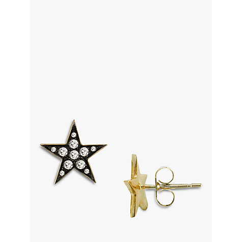 Buy London Road 9ct Gold Portobello Starry Night Diamond Star Stud Earrings, Yellow Gold Online at johnlewis.com