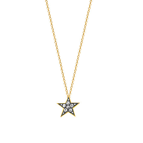 Buy London Road 9ct Gold Portobello Starry Night Diamond Star Pendant Online at johnlewis.com