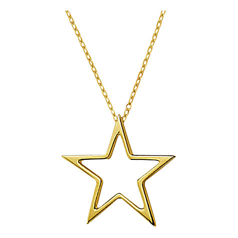 Buy London Road 9ct Gold  Portobello Starry Night Open Star Pendant, Gold Online at johnlewis.com