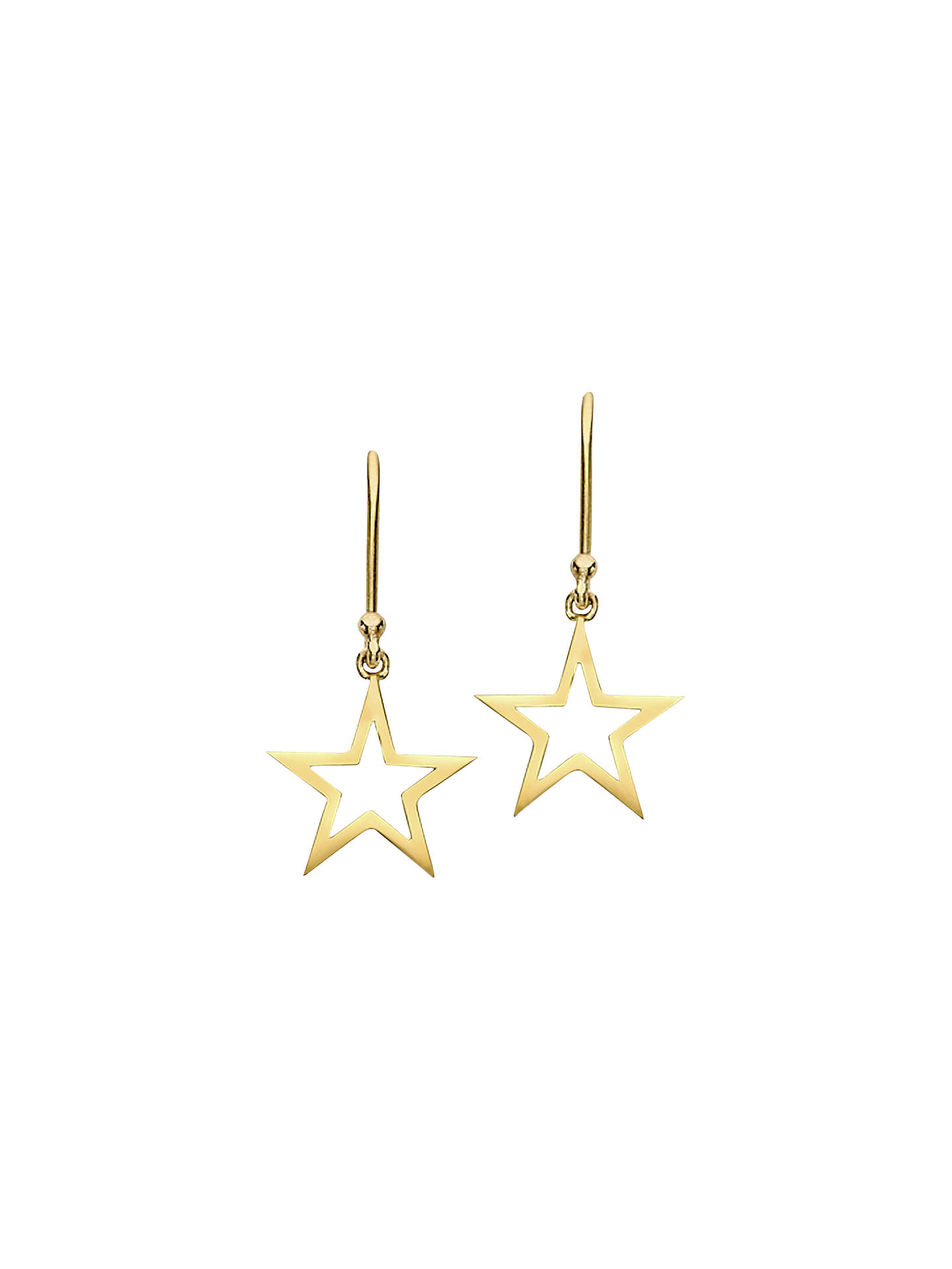 London Road 9ct Gold Portobello Starry Night Star Drop Earrings Online At Johnlewis