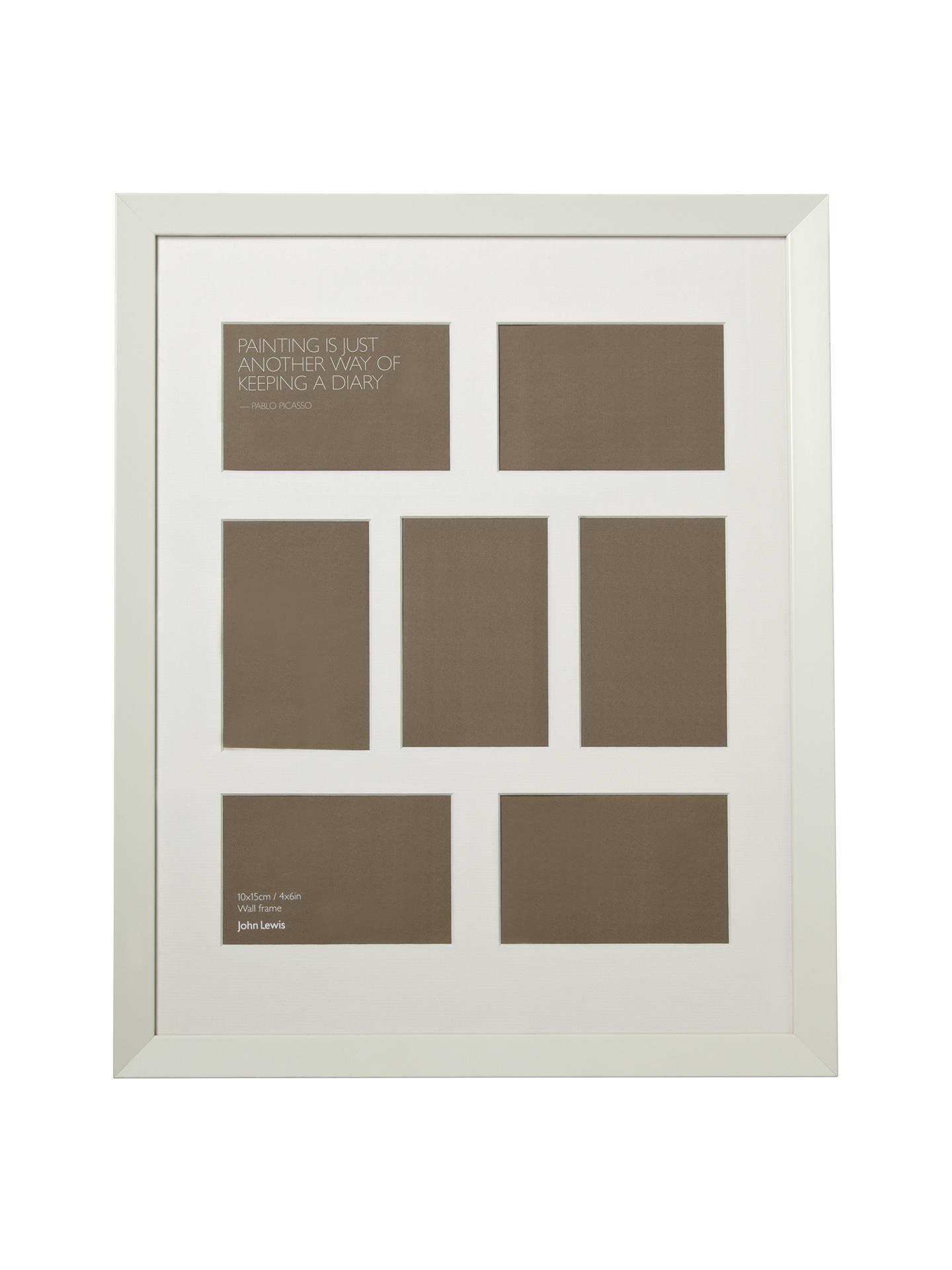 John Lewis Multi-aperture Gallery Frame, White, 7 Photo, 4 x 6\