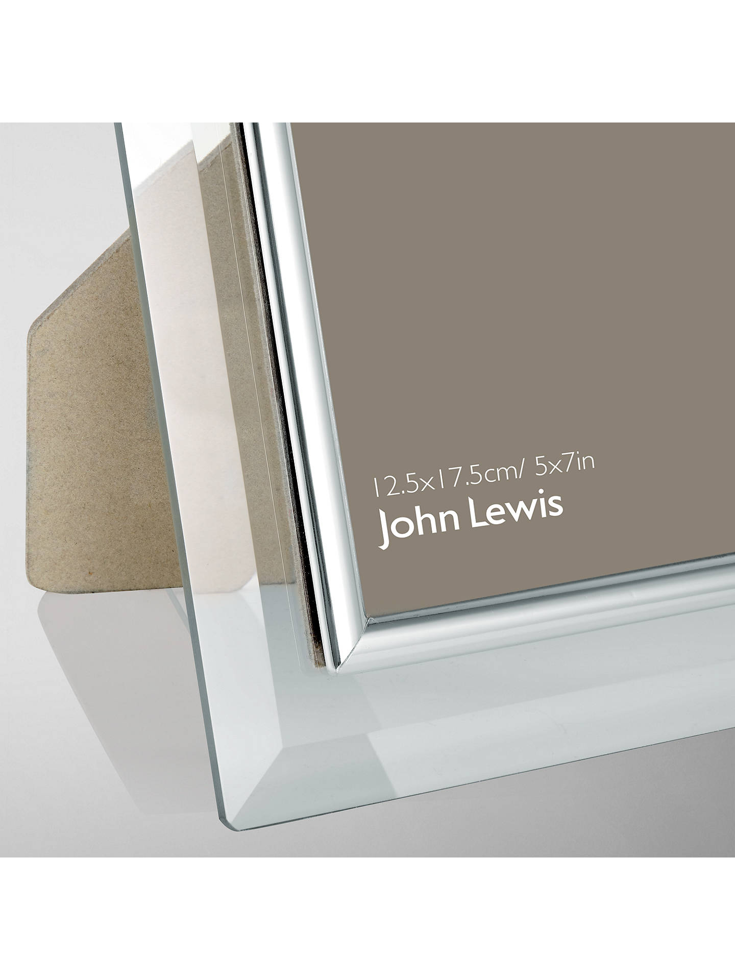 "Buy John Lewis & Partners Glass Metal Border Photo Frame, 5 x 7"" (13 x 18cm) Online at johnlewis.com"