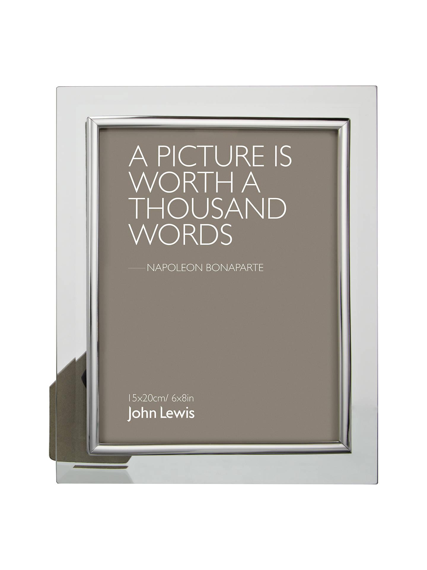 John Lewis Partners Glass Metal Border Photo Frame 6 X 8 15 X