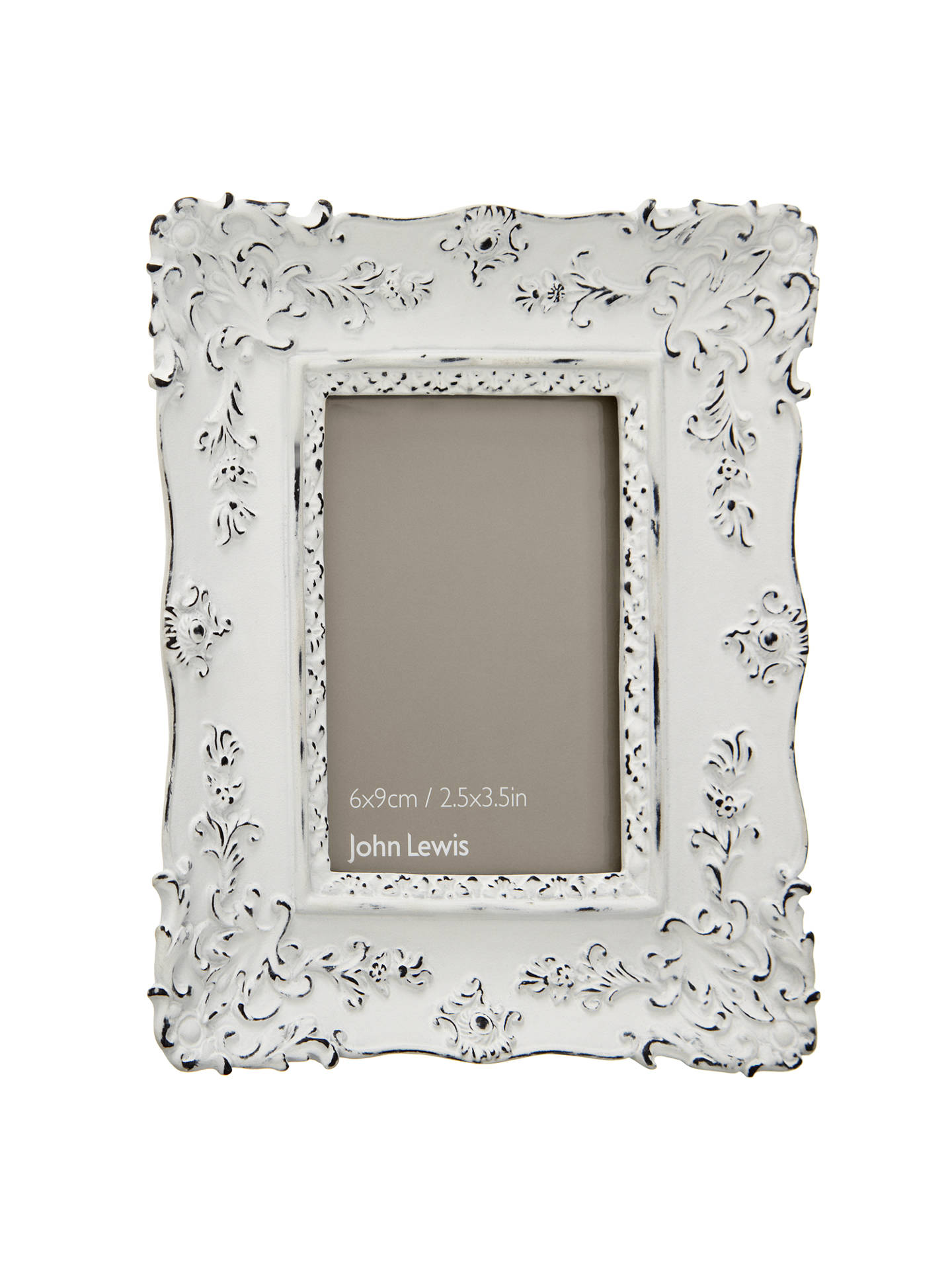 John Lewis French Photo Frame, White, 2.5 x 3.5 (6 x 9cm) at John ...