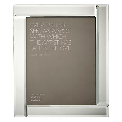 John Lewis Deco Glass Photo Frame, 8 x 10 (20 x 25cm)