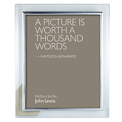 John Lewis Glass Metal Border Photo Frame, 8 x 10 (20 x 25cm)