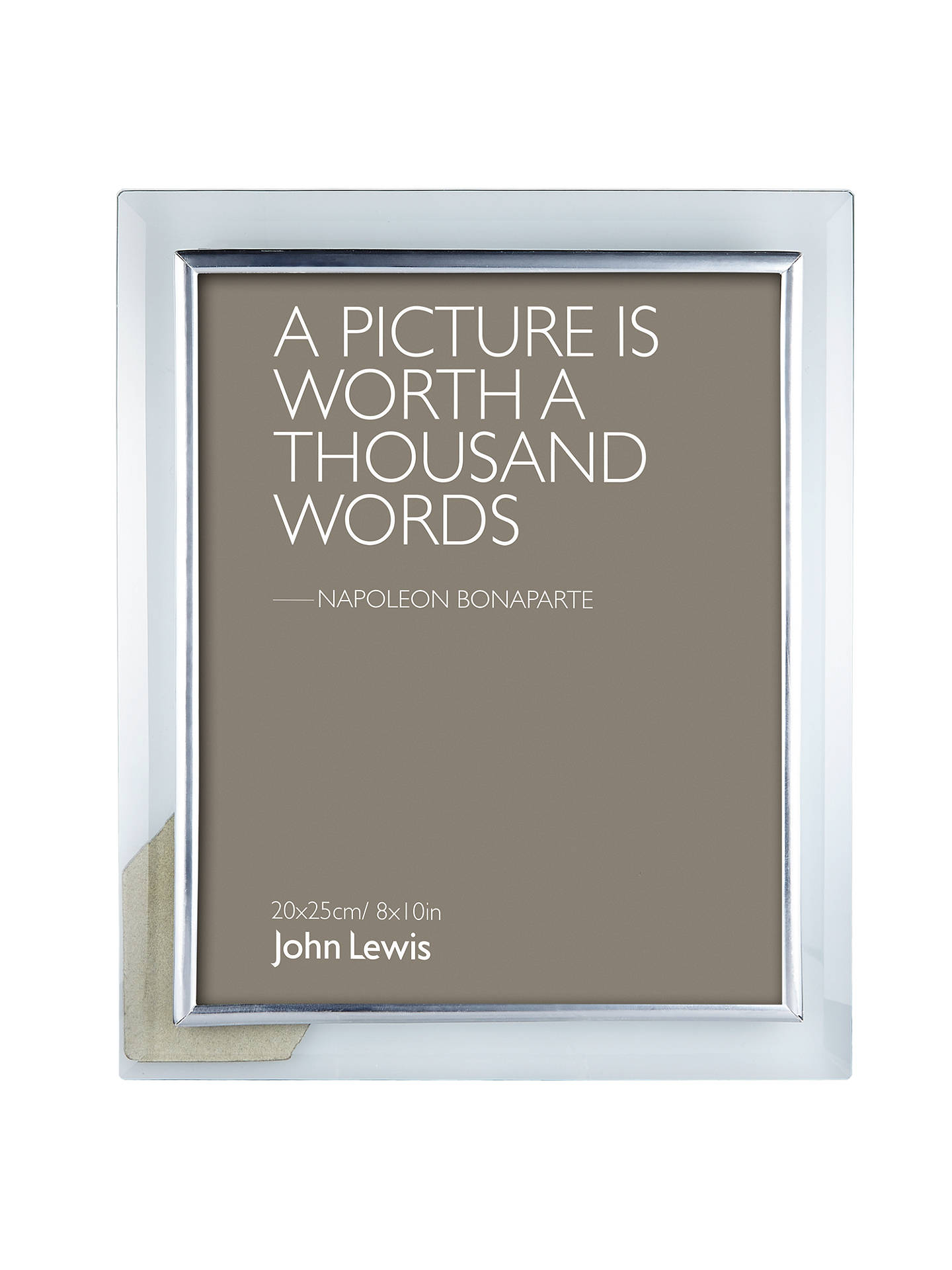 John Lewis Partners Glass Metal Border Photo Frame 8 X 10 20 X