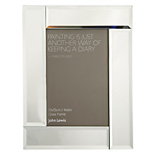 "Buy John Lewis Deco Glass Photo Frame, 4 x 6"" (10 x 15cm) Online at johnlewis.com"