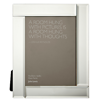 John Lewis Deco Glass Photo Frame, 6 x 8 (15 x 20cm)