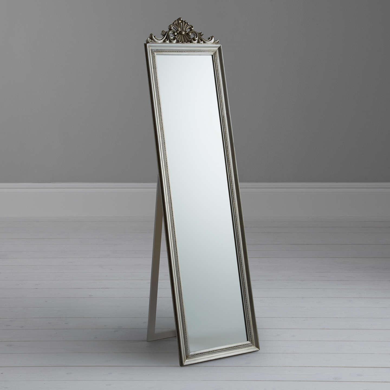 Pimlico Cheval Mirror 180 5 X 46cm Silver At Johnlewis Com