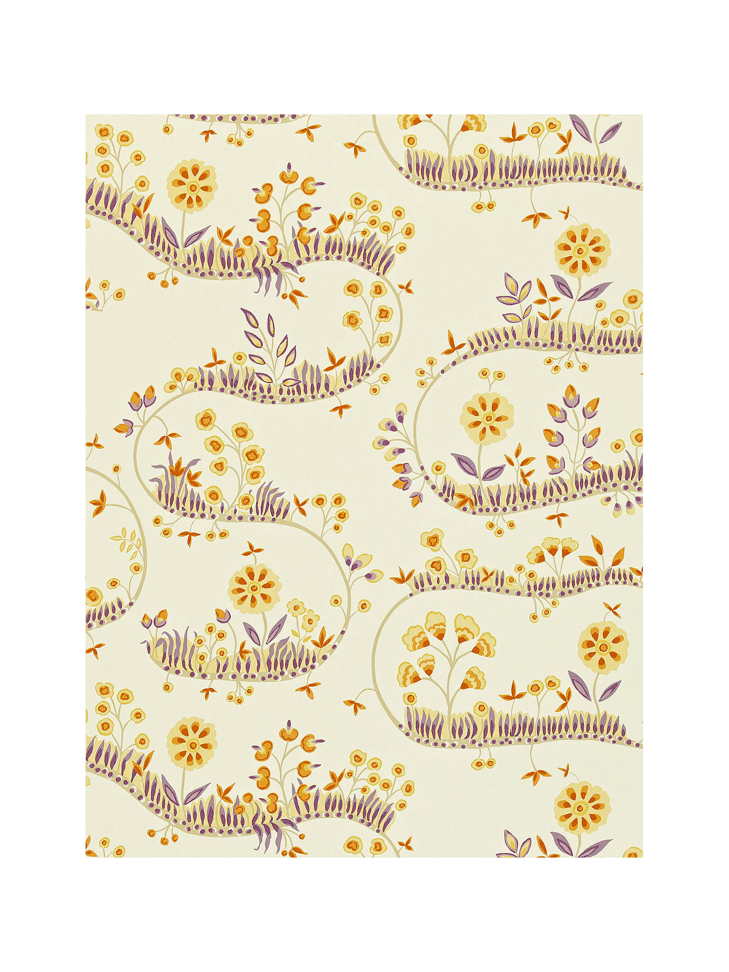 BuySanderson Fantasy Garden Wallpaper Fig Orange 212412 Online At Johnlewis