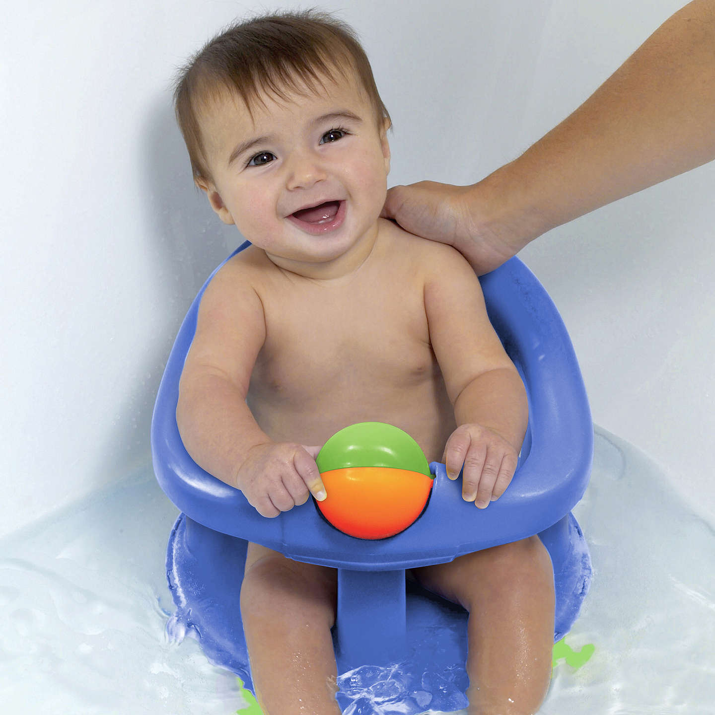 BuySafety 1st Swivel Baby Bath Seat, Pastel Online at johnlewis.com