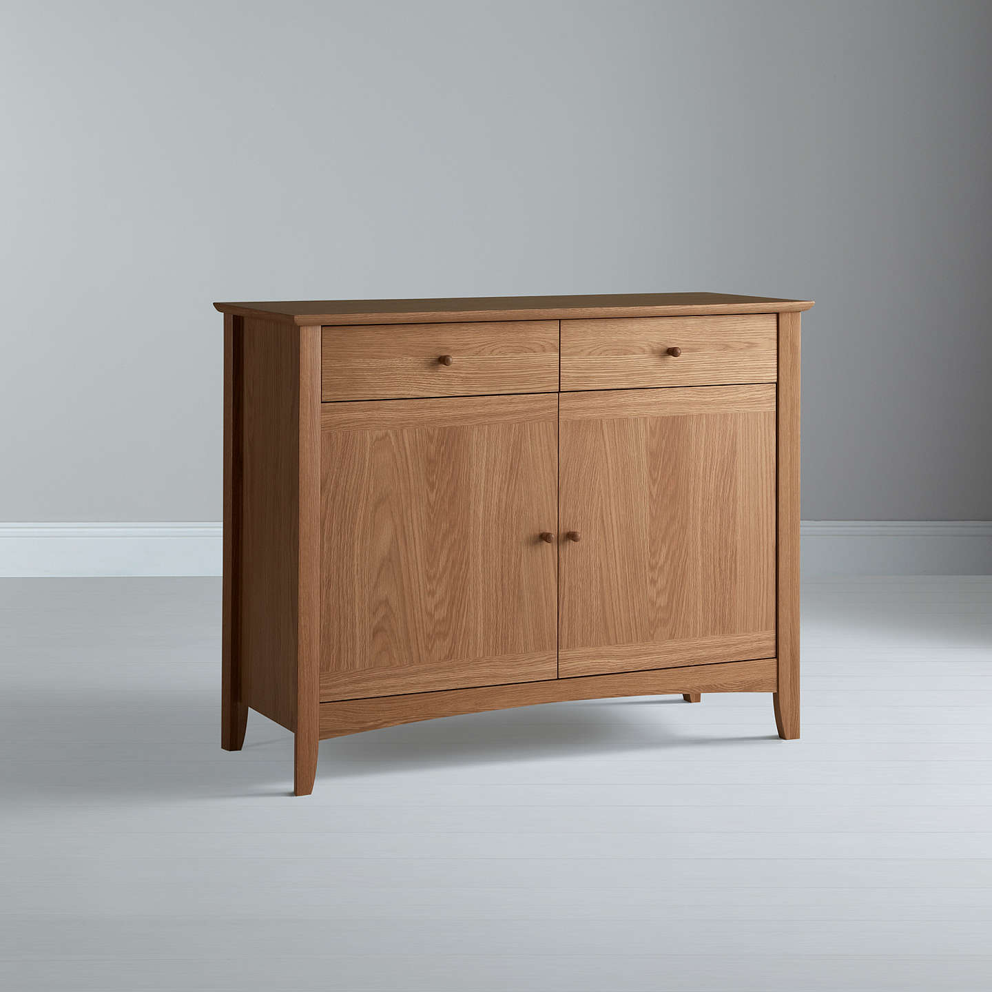 John Lewis Alba Narrow Sideboard Oak at John Lewis