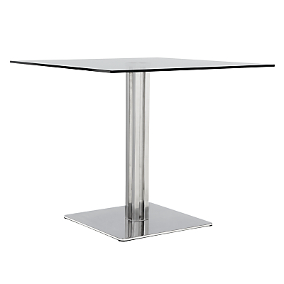 John Lewis Tropez Square 4 Seater Glass Top Dining Table