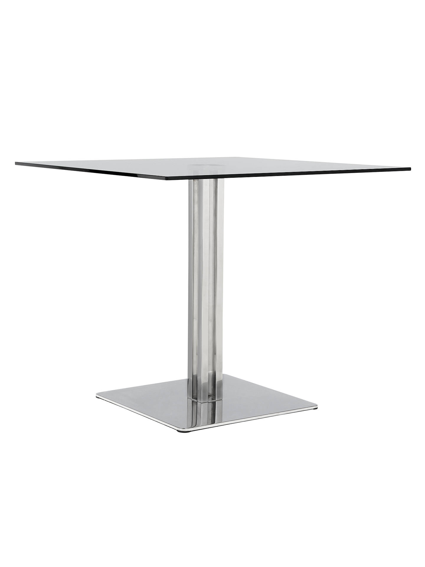 john lewis tropez square 4 seater glass top dining table. Black Bedroom Furniture Sets. Home Design Ideas