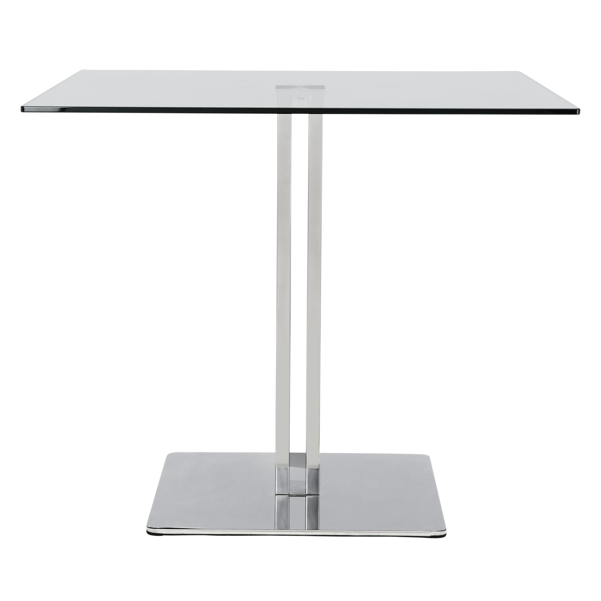 Buy John Lewis Tropez Square 4 Seater Glass Top Dining Table