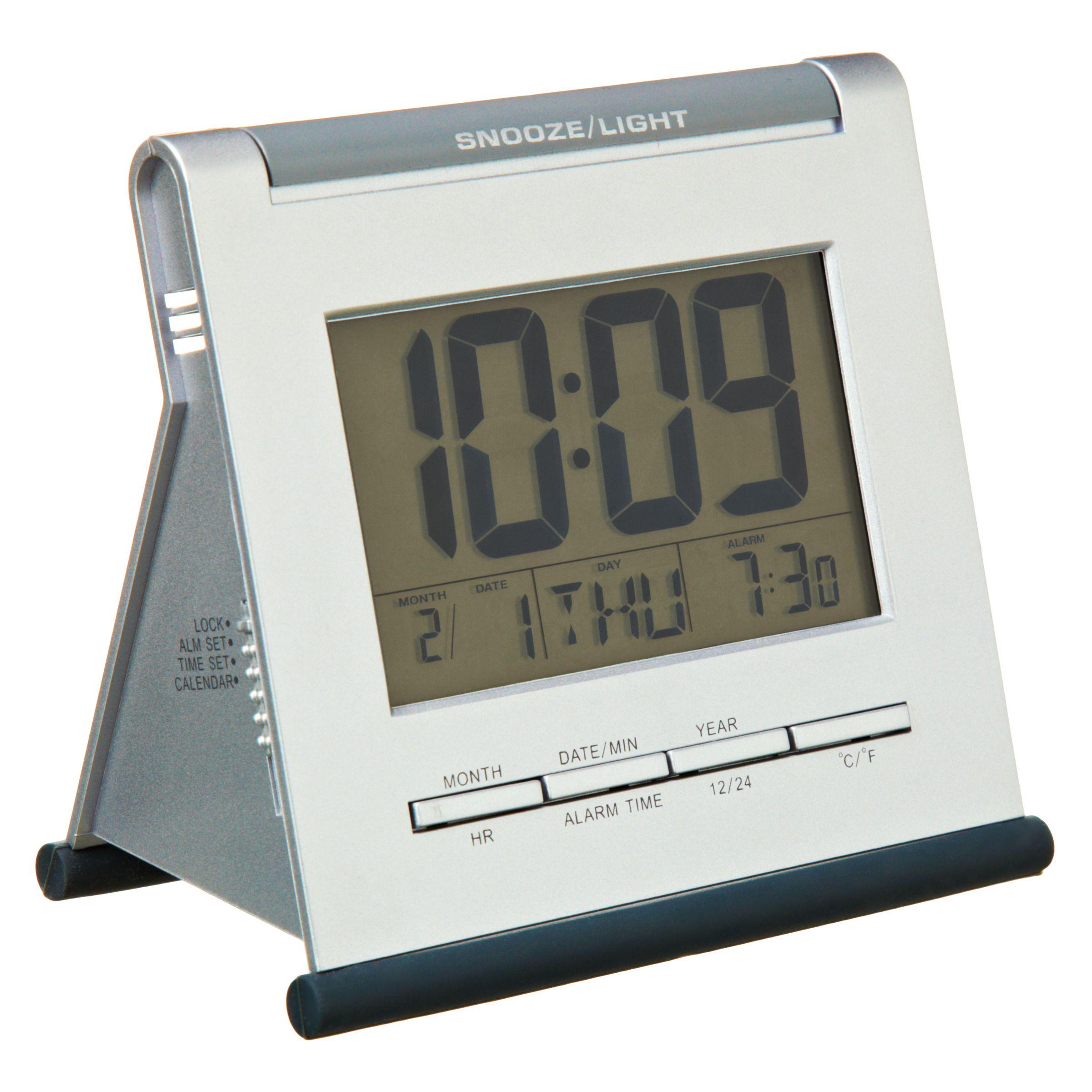 Acctim Apex Smartlite® LCD Digital Alarm Clock, Silver