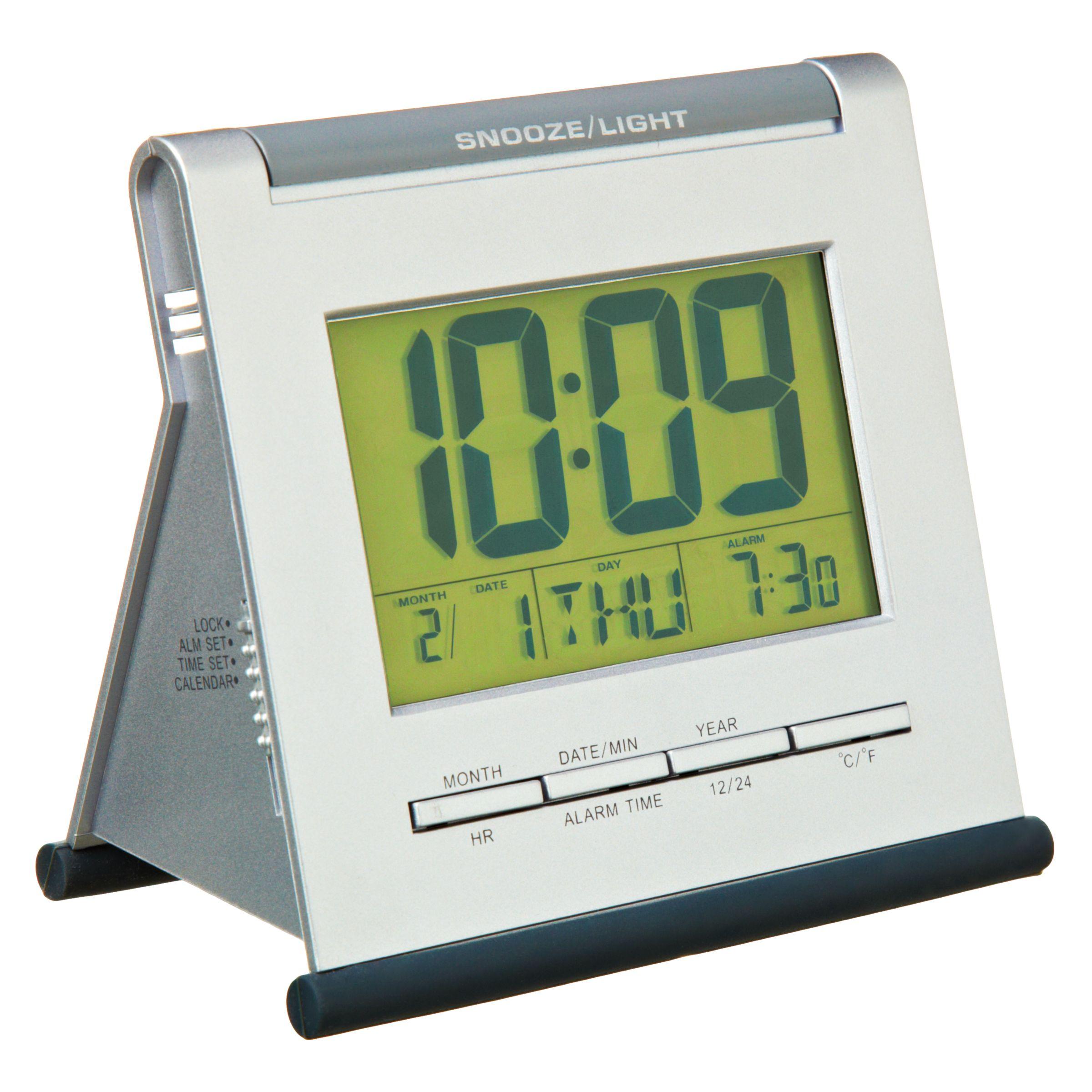 Acctim Acctim Apex Smartlite® LCD Alarm Clock, Silver